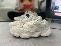 Wholesale white cow plastic for sale - Group buy 2019 Kanye West Bone White Moon Yellow Running Shoes Cow Leather Mens Running Shoes Sneakers Sport Casual Shoe