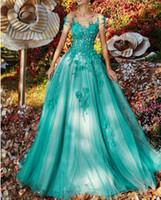 vestido sexy com uma alça venda por atacado-Best Selling Off The Shoulder Prom Dress Tulle apliques A linha Custom Made Evening Formal vestidos de baile do desgaste do partido Plus Size Vestidos árabe