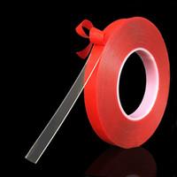 telefonlar için 3m yapışkan toptan satış-3 m 10mm Kırmızı Şeffaf Çift Taraflı Bant Hiçbir Iz Yüksek Mukavemetli Yapıştırıcı PET Sticker Araç Telefonu Masa HHA114