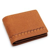 Wholesale brand handmade leather wallet resale online - Genuine Leather Wallet Men s Retro Classic Embossed Brand Wallet Leather Multi card Wallet First Layer Cowhide Handmade Purse