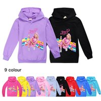 Wholesale jojo siwa clothes resale online - 9 ColorTrendy JOJO SIWA Hooded Sweater for Boys and Girls hooded sweater Baby kids clothes B1