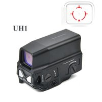 optik nişangah skopları toptan satış-Açık avcılık ekipmanları Optik UH1 Red Dot Sight Kapsam Refleks Sight Holografik Sight 20mm Raylı Avcılık Kapsamları için USB Şarj ile