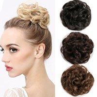 borracha americano venda por atacado-cabelo pacote europeu e norte-americanos Sujo Curls senhoras de cabelo sintético Rubber Band chignons
