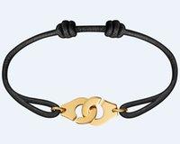 frankreich schmuck großhandel-Frankreich Berühmte Marke Schmuck Dinh Van Armband Für Frauen Modeschmuck 925 Sterling Silber Seil Handschellen Armband Menottes