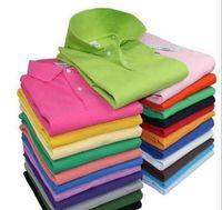lüks erkekler polo toptan satış-Lüks Marka Tasarımcısı Yaz Polo Nakış Mens Tops Polo Gömlek Moda Gömlek Erkek Kadın Yüksek Sokak Rahat Üst Tee 008