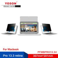 monitor de filtro de privacidad al por mayor-Yoson Filtro Pro 13.3 retina aislamiento de la computadora / Anti Peeping película / 307mm * 201mm