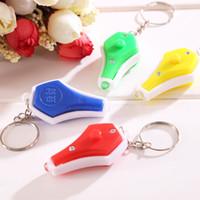 Wholesale uv light keychain for sale - Group buy UV Light Money Detector Keychain Mini LED Ultraviolet Money Detector Key Chain Fashion Portable Key Ring Colors VT0383