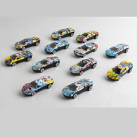Wholesale scale race cars resale online - lReturn Alloy Iron Shell Automobile Racing Model Car Sport Racing Hobby Model Car Scale for Kids New Car Toys Automobile Mould toy C22