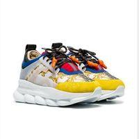 zincir bağlantıları toptan satış-2019 chain reaction designer shoes Aşk Sneakers Kadın Erkek Üçlü Siyah Hafif Link-Kabartmalı Taban Tasarımcı Lüks Rahat Ayakkabılar ile Toz Torbası Kutusu