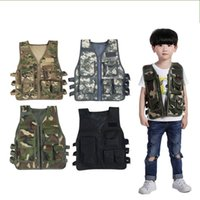 Wholesale outdoor tactical vest online - Child camouflage Vest outdoors Army fans Adult Tactical sports Grade three armor cloth popular Multicolor hot sale am3