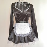 Wholesale cosplay sexy hot maid for sale - Sexy French Maid Cosplay Uniform Hot Fancy Maid Women Role Play Costume Dress Lovely Clubwear