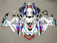 Wholesale abs fairing mold for sale - Group buy High quality injection Mold ABS Full fairings Kits fit for SUZUKI GSXR600 GSXR750 k8 Bodywork set custom Blue White