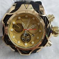 genebra relógio mulheres vermelho venda por atacado-2019 INVICTA luxo relógio de ouro dial homens esporte relógio de quartzo data automática de borracha homens presente relógios de pulso