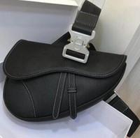 vintage stoffe für großhandel-Neue Ankunft 2019.Classic Retro echtes Leder Gürteltasche Unisex. Sehr hochwertige 5A Umhängetasche.Auch gesticktes Stoffmaterial