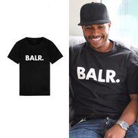 ingrosso camicie di marca balr-New Balr Designer T Shirt Hip Hop Mens Designer T-shirt Moda uomo di marca da donna manica corta T-shirt di grandi dimensioni