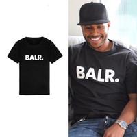 bal tişörtleri toptan satış-Yeni Balr Tasarımcı T Shirt Hip Hop Erkek Tasarımcı T Shirt Moda Marka Mens Womens Kısa Kollu Büyük Boy T Shirt