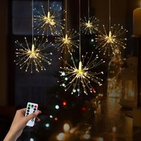 Wholesale led battery garland for sale - Group buy Christmas Lights DIY Foldable Bouquet Shape LED String Lights Firework Battery Operated Decorative led Fairy Lights Garland Patio