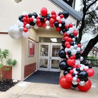 doğum günü balonları beyaz toptan satış-158 adet Renkli Balon Kemer Kırmızı Siyah Beyaz Balonlar Çelenk Kiti Düğün Doğum Günü Bebek Duş Ev Dekorasyon Aksesuarları Için