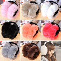 Wholesale ear muffs for adults resale online - Fashion Ear Muffs Winter Earmuffs Cover Folding Earmuffs for Men and Women Imitating Rabbit Hair Extra large Hamburg Earmuff C0204