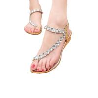 zapatos de fiesta de boda al por mayor-Venta caliente de la marca de sandalias de las mujeres Rhinestone zapatos de verano cuñas Slip On Woman zapatos de las mujeres del partido a prueba de agua de boda 275