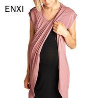 frau kurzes kleid krankenschwester großhandel-ENXI Frauen Mutterschaft Kleid Pflege Baby Schwangerschaft Kleidung Kleider 2019 Kurzarm Mütterliche Schwangerschaft Kleider