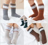 Wholesale baby knee socks for boy for sale - Group buy Hot Sale Children Cotton Socks Girl Boy Autumn Thicking Knee high Socks Baby Kids Non slip Socks For Years Kids