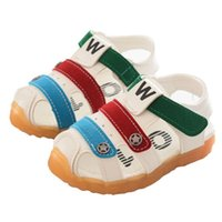 jungen geschlossenen sandwich großhandel-Neue Kleinkind Kinder Baby Mädchen Jungen Sommer Closed Toe Strand Schuhe Sandalen Turnschuhe