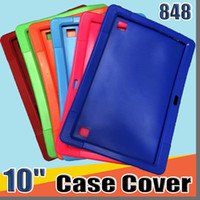 "Discount android tablet pc cases 848 Cheapest 50pcs Anti Dust Kids Child Soft Silicone Rubber Gel Case Cover For 10"" 10.1 Inch A83T A33 A31S Android Tablet pc MID Free DHL"
