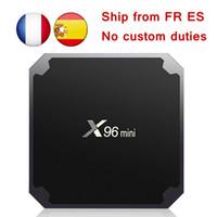 cajas de google tv al por mayor-Libres de impuestos de la UE [Original] X96 MINI caja androide 7.1 TV Amlogic S905W Quad Core 1 GB / 2 GB 8 GB / 16 GB Cajas TV Smart TV