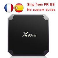 телевидение для оптовых-ЕС налога бесплатно [подлинный] X96 мини 7.1 для Android коробка TV встроенный S905W четырехъядерный 1 ГБ/8 ГБ 2 ГБ/16 ГБ ТВ-приставок Смарт ТВ