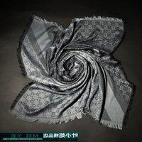 lenço cinza venda por atacado-Jiangyu Fábrica Venda de Alta Qualidade de Luxo clássico lenço de cashmere De Lã das mulheres de Envoltório de seda xale Carta impressão Cachecóis Cinza 140x140 cm