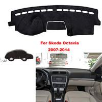 Wholesale skoda interior resale online - Car styling For Skoda Octavia Interior Dashboard Pad Cover Dash Mat Sticker Anti Sun Velvet Instrument