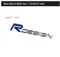 projetos do carro venda por atacado-2019 3D de Metal R DESIGN RDESIGN Carta Emblema Emblema Etiqueta Do Carro Car Styling Decalque para Volvo XC60 XC90 S60 S80 S40 V40 V60