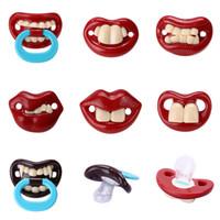 çocuklar meme başı toptan satış-Emzik komik Komik Bebek Emzik Kukla Meme Diş Kaşıyıcı Yatıştırıcı Toddler Pacy Ortodontik Emzik Silikon Bebek Çocuk Besleme Meme Bebek Bakımı