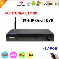 dahua 3mp kameralar toptan satış-8MP / 6MP / 5MP / 4MP / 3MP / 2MP IP Kamera IP Kamera Dahua Paneli Hi3536C Xmeye 4CH * 4 K / 4CH * 8MP 4 Kanal H.265 48 V POE Onvif WIFI NVR