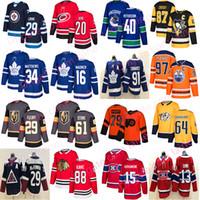 nouveaux chandails de hockey achat en gros de-Maillot de hockey 2019 des Maple Leafs de Toronto chicago blackhawks Vegas des Golden Knights 61 Stone40 Pettersson Edmonton Oilers 97 chandails de hockey