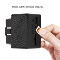 rastreadores de vehículos al por mayor-GPS para el dispositivo Tralier OBD2 OBD GPS GSM Tracker OBDII Remolque de seguimiento de vehículos con software