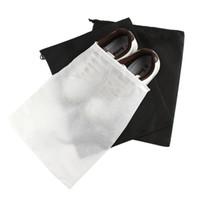 capas de armazenamento de calçado venda por atacado-Storage Bag Non Woven reutilizável Shoe Proof Capa com cordão Caso respirável Poeira Diversos Pacote Início Ferramentas RRA1923