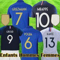 france l futbol forması toptan satış-fr MBAPPE france 100th futbol formaları yıldönümü 100 yıl maillot GRIEZMANN POGBA Futbol LEMAR gömlek Equipe 2019 kiti tops
