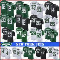 cj maillot achat en gros de-26 Le'Veon Bell New York 33 Jamal Adams Jets 14 Maillot de football Sam Darnold 12 Joe Namath 95 Quinnen Williams 57 CJ Mosley Top qualité