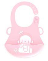 bib pinnies toptan satış-Cep ile su geçirmez Bebek Önlüğü FDA Sınıfı Silikon Ayarlanabilir Snaps Bebekler Için BPA ücretsiz silikon pinny Besleme Önlükler