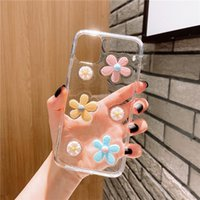 Wholesale flower case bling for sale – best 3D Flowers Glitter Phone Case For iPhone Pro s Plus X XR XS Max Transparent Bling Soft TPU Silicone Back Cover