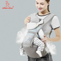 Wholesale baby carry seat for sale - Group buy happy walk M Cotton Baby Carrier Hipseat Backpack Maternity Sling Wrap Gear Shoulder Hip Seat Travel Waist Belt Holder