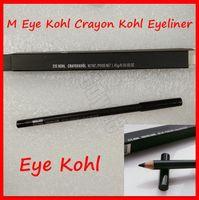 lápis preto pastel venda por atacado-Kohl New Eyes Makeup M Eye Kohl Crayon Kohl Lápis Delineador preto Liner Eye Pencil Eye Com Box