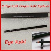 crayón lápiz negro al por mayor-New Eyes maquillaje M Kohl Eye Lápiz Kohl Lápiz Delineador de ojos Negro lápiz delineador de ojos Kohl con la caja