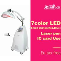 terapia de luz laser led venda por atacado-Eu taxonline profissional Máquina de Rejuvenescimento Da Pele Photon Facial PDT LED Therapy Laser Color Lâmpada de luz Equipamentos de salão de beleza