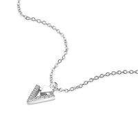 stein chocker halskette großhandel-Österreich Kristall Stein Mädchen V-förmigen Anhänger Chocker Frau 100% 925 Sterling Silber Halskette Silber Kette Schmuck Weihnachtsgeschenk