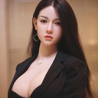 muñecas inflables de silicona real al por mayor-140 148cm 158cm No inflable de silicona llena de metal TPE esqueleto de la muñeca del sexo del silicón súper reales Japón 18 señora atractiva de la muñeca del amor