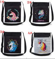 bolsa venda por atacado-7 estilos Ombro Unicórnio Tote Shopping Lady Bolsa Bolsa Bolsa Shopper Pano 3D Impresso Zipper Bolsas