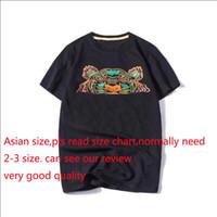 los mejores diseñadores de ropa para al por mayor-El diseñador de moda de verano camisetas para los hombres tops cabeza del tigre Cartas bordado camiseta para hombre de la marca de ropa de manga corta T-shirt Mujeres Tops S-2XL
